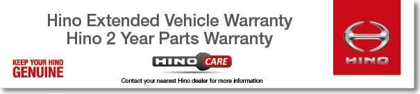 Hino Parts Warranty - 2 Years