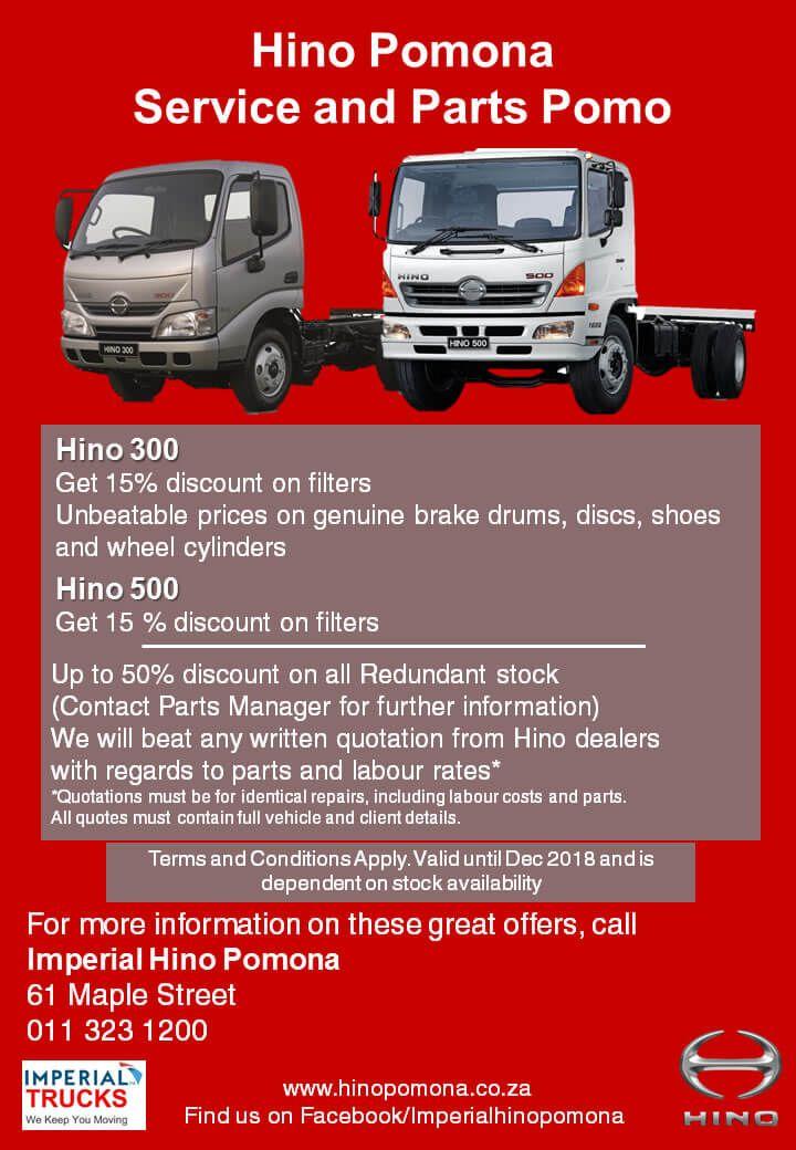 Hino Trucks - Pomona / Johannesburg